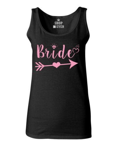 Bride With Heart Pink Women/'s Tank Top Wedding Marriage Bachelorette Tee