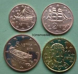 Griechenland 4 Euromünzen 2016 Kleiner Euro Kms Mit 125 Cent 10