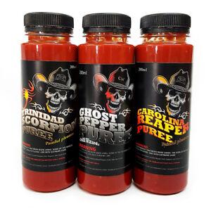 Chilli-Sauce-Carolina-Reaper-Trinidad-Scorpion-amp-Ghost-Pepper-Chilli-Puree