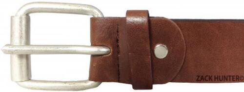 """MENS REAL LEATHER BELTS 1.5/"""" BELT IN BLACK /& BROWN QUALITY CHUNKY BUCKLE MB031"""