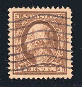 ESTADOS-UNIDOS-Sello-377-4c-Washington-Franklin-Definitivo-1911-Usada