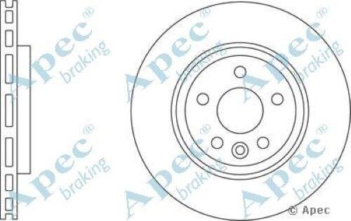 1x oe qualité remplacement essieu arrière ventilé APEC frein à disque 5 stud 302mm-Paire