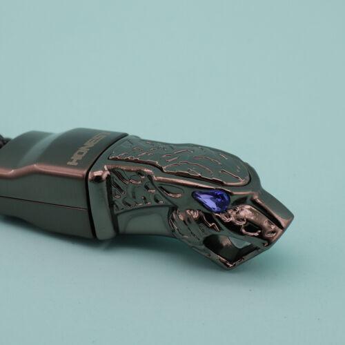 Auto Schlüsselbund Schlüsselbund Panthera Blau Diamant Auge Leder Seil Schwarz