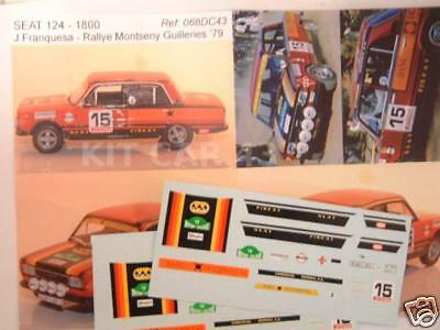 "DECAL CALCA 1//24 FIAT 131 ABARTH /""SEAT/"" B FERNANDEZ RALLY CATALUNYA 1979"