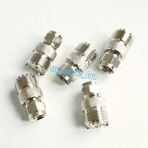 5Pcs-UHF-Female-SO-239-Jack-SO239-to-F-Male-Type-Plug-connector-RF-Adapter