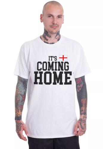 Il est Coming Home England Glory coupe du monde de football Unisexe Blanc T Shirt