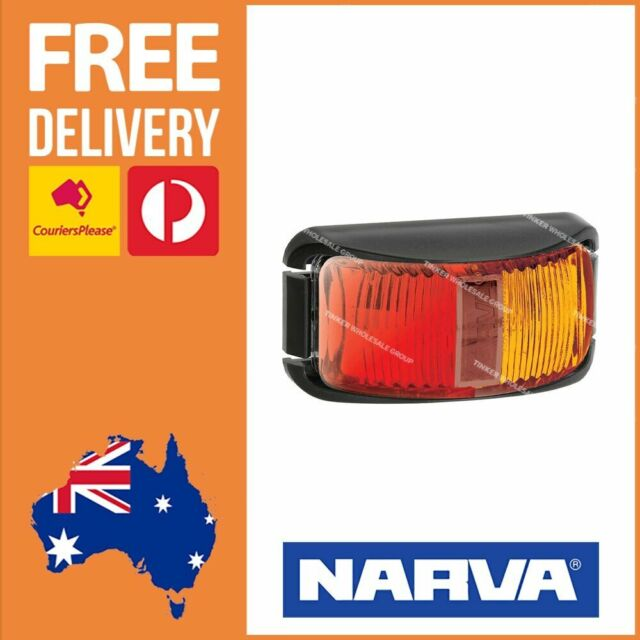 Narva LED Side Marker Red/Amber 12/24V LED Truck Trailer Side Marker ADR 91602
