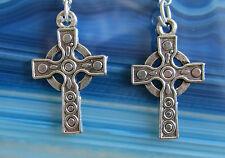 Ohrhänger Ohrring Kreuz silber farben Metall mit Haken aus Silber 925 nr 8