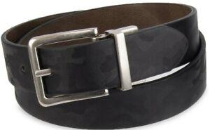 8-12 Black Brown Braid Wonder Nation Boy/'s Reversible Casual Belt Size M//L