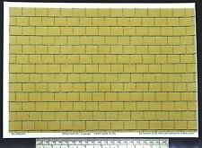 Yellow roof tile self adhesive vinyl 1/32nd scale (1:32) - A4 sheet -210 x 297mm