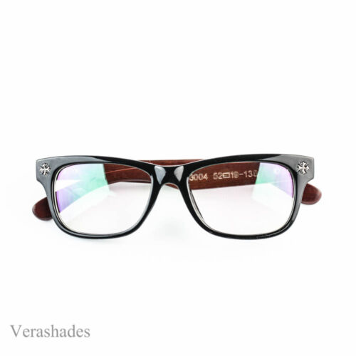 Retro Classic Clear Lens Nerd Frames Glasses Mens Womens Wood Arm o