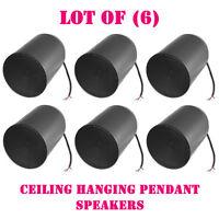 Lot Of (6) Pyle Prjs66b 6.5 Ceiling Hanging Pendant Speaker W/ 70v Transformer on sale