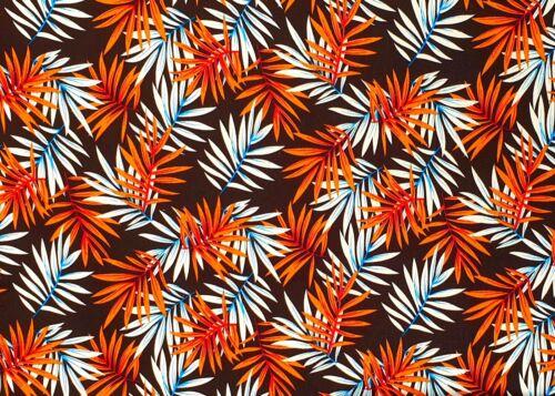Elastische Baumwolle Köper Gabardine Stoff bedruckt Tropic Blätter Kleidung Deko
