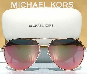 55a3456547 NEW  MICHAEL KORS AVIATOR w ROSE GOLD Mirrored RODINARA Sunglass ...