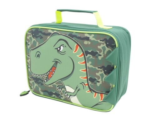 Childrens Dinosaur Insulated School Lunch Bag Box