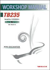 Takeuchi Tb235 Compact Excavator Service Workshop Manual On A Cd Tb 235