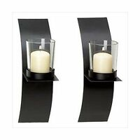 Gifts & Decor Modern Art Candle Holder Wall Sconce Plaque Set O... Free Shipping