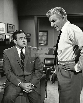 """RAYMOND BURR AND WILLIAM HOPPER IN """"PERRY MASON"""" - 8X10 PUBLICITY ..."""