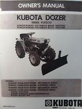 Kubota Tractor Dozer Bulldozer Plow Implement Owners Manual B6000 B7100 Kufd110