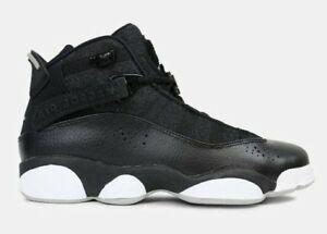 46fc9d04f86 Air Jordan 6 Rings BG # 323419 021 Black Big Kids SZ 3.5 - 7 | eBay