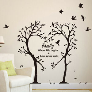 Image Is Loading Family Love Tree Quote Wall Stickers Living Room