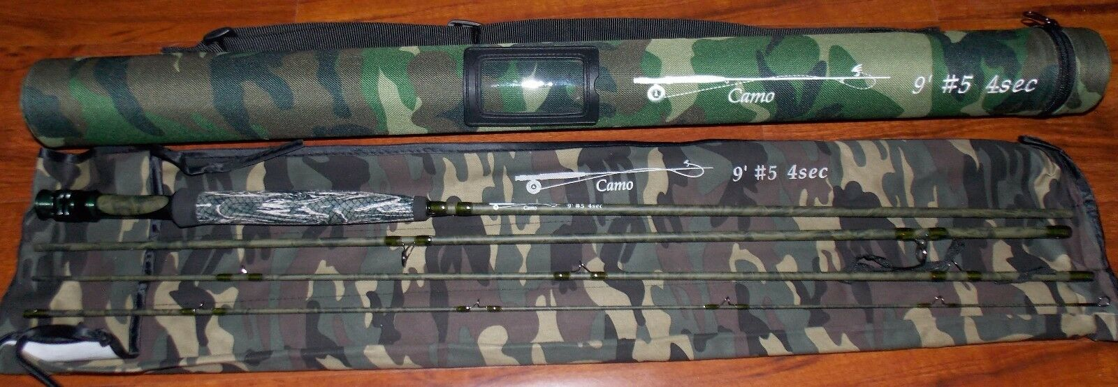 Camo Fly Rod 5WT 9FT 4Pieces Fast Action Graphite voiturebon Libre 3 DAY DELIVERY