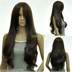 ZCYS05-Fashion-Specialized-Wig-Material-Brown-Long-Curly-Big-Wave-Women-Wig