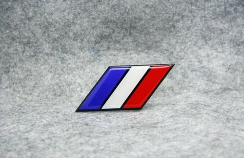 France flag Aluminium Metal Badge Decal Emblem Sticker For FR Luxury Car