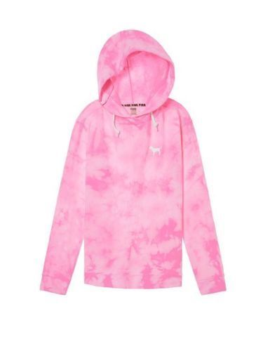 New VICTORIA'S SECRET PINK Tie Dye Oversized Credver Tunic Hoodie Great Gift