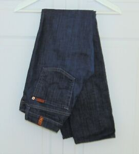 7-For-All-Mankind-Womens-Jeans-27-x-31-Straight-Leg-Dark-Wash-Stretch