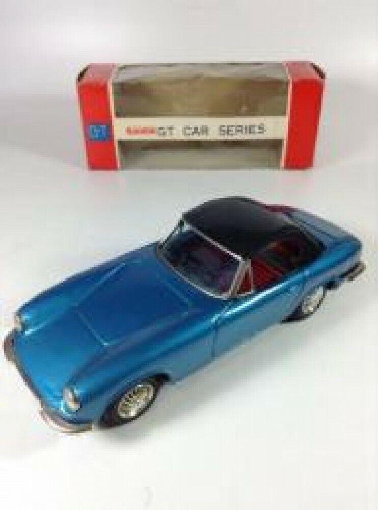 Bandai HOJALATA juguete vintage vehículo Lotus Elan Azul 21 cm con caja de jp F S