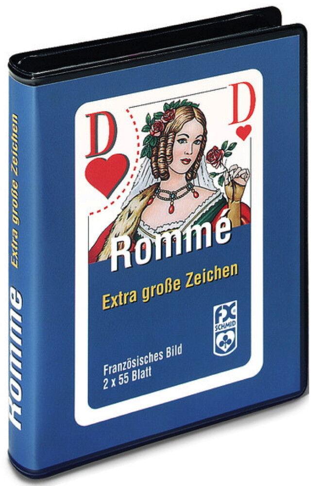10 x 2 x 55 Blatt Ravensburger Spielkarten Rommé, Bridge große Eckzeichen 27074