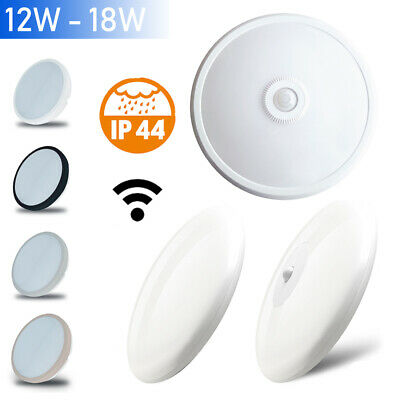 12w 18w Led Decken Leuchte Badlampe Badleuchte Ip44 Bewegungsmelder Sensor Rund Büro & Schreibwaren Büromöbel