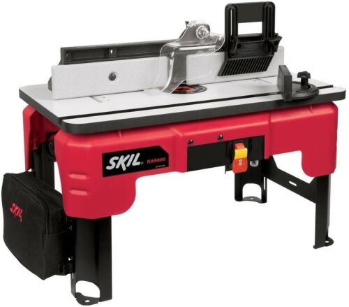 Skil Router Table Stand Feather Board Folding Leg Storage Bag Miter Gauge