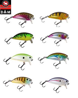 DAM Effzett Pro-Lite Deep Crank Fishing Lure Lure 4-5cm Colours Ideal for Perch