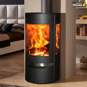 Attrayant Image Is Loading Suerte Wood Burning Stove 3 Sided Contemporary Curved