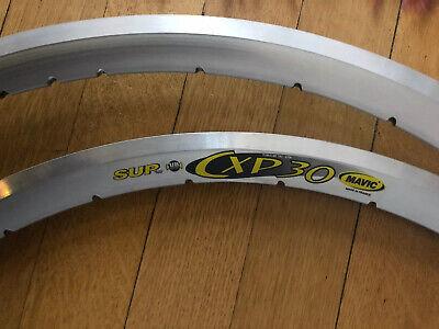 1 pair of Mavic CXP 30 700c tubular rims SUP UB silver 32 holes