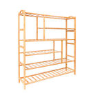 Natural Bamboo 6-Tier Storage Rack Organizer