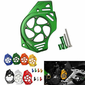 Front Sprocket Chain Guard Cover Left Engine Cnc For Kawasaki Er6n