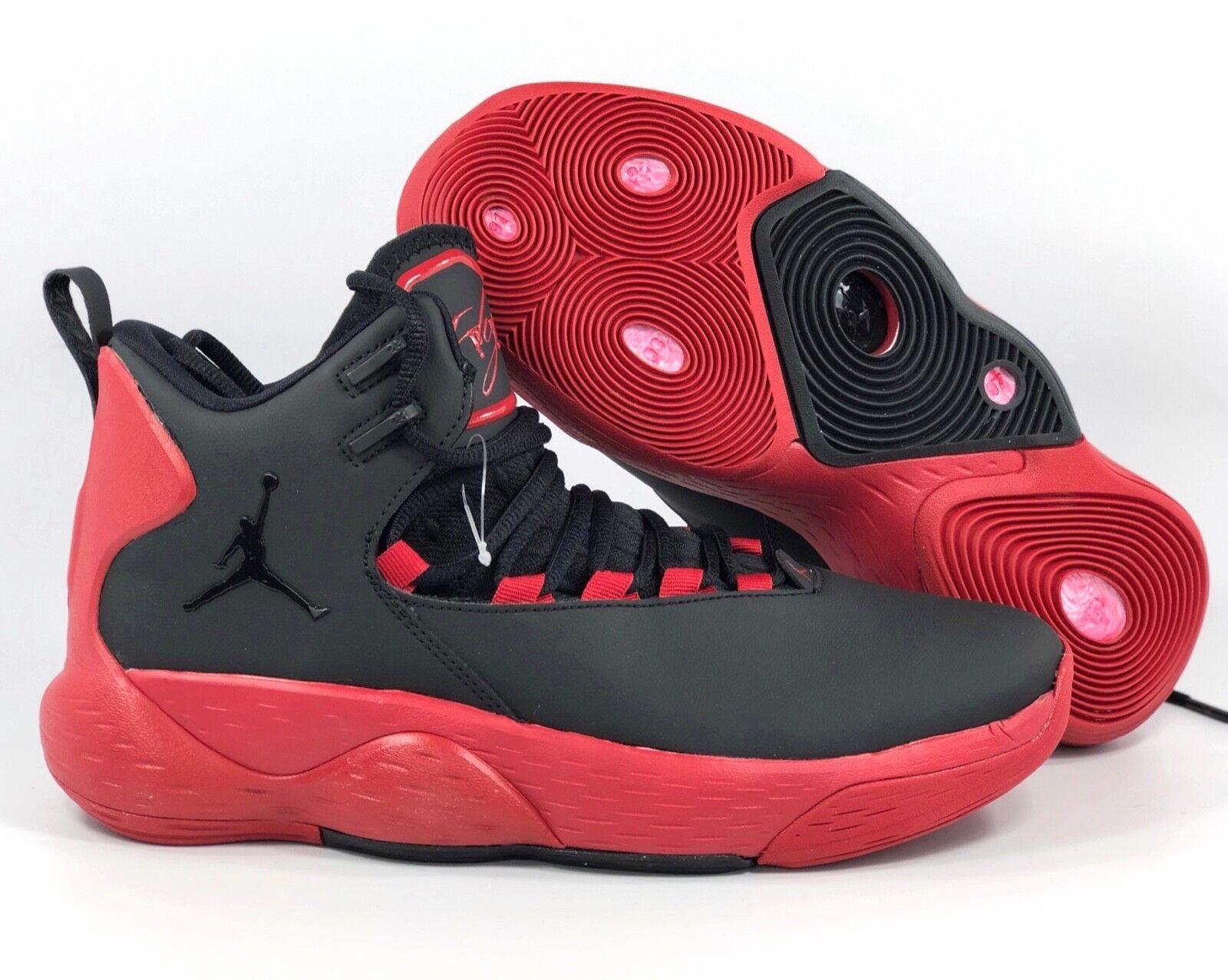 Nike Air Jordan Super.Fly MVP Black Red AR0037-006 Men's 9