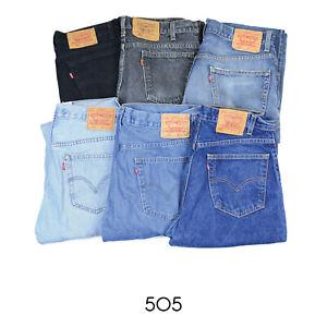 VINTAGE-LEVIS-505-ZIP-FLY-JEANS-DENIM-GRADE-A-W28-W30-W32-W34-W36-W38