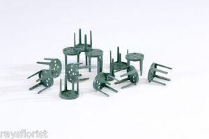 Audacieux Pinholders En Plastique Vert Pin Détenteurs Grenouilles Attacher Oasis à Plateaux Plats Pack 25-afficher Le Titre D'origine Couleur Rapide