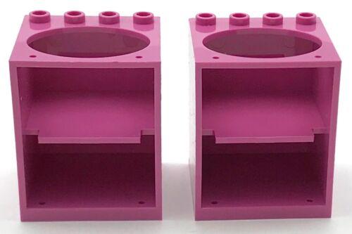 LEGO 2 KITCHEN SINKS DARK PINK HOUSE BATHROOM DRAWER PIECES