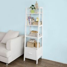 Sobuy® Ladder Storage Wall Shelving Unit With 4 Shelves and Drawer ...