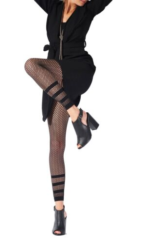 Pretty Polly Stripe Net Footless Tights AVQ3