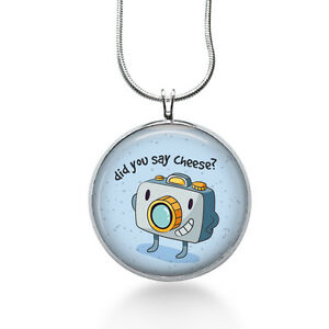 Photography-necklace-camera-say-cheese-blue-jewelry-for-her