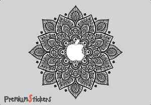 Mandala-Flowers-macbook-sticker-Laptop-stickers-Green-Decal-Clear-Vinyl