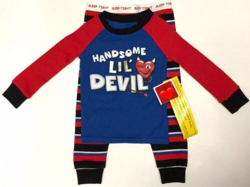 NEW Size 3T Pajamas Handsome Devil 2 Piece Pajama Set PJs Boys Toddler Valentine