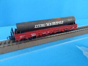 Marklin-4694-DB-Flat-car-with-METAL-TUBE-MEA-1983-034-Your-Pipe-Line-to-European