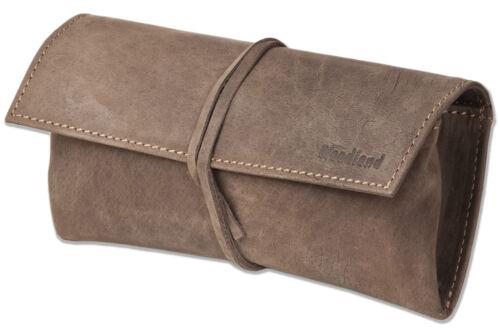 Woodland® Leder Schlamperrolle in Dunkelbraun aus naturbelassenem Büffelleder